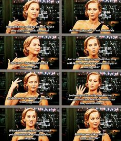 Jennifer on having to chop wood for the film Winter's Bone. she's so funny and has the best expressions! hahahha