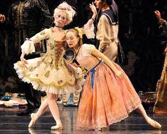 Gallery   52nd annual production of Atlanta Ballet's 'Nutcracker'   accessatlanta.com  Peng-Yu Chen (left, role of meissen doll) and Alessa Rogers (role of young Marya) perform.