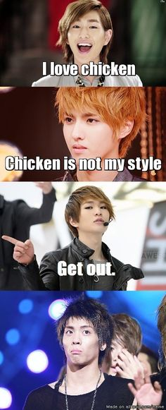 But did you SEE Kris eating the chicken? Yeah, that's right.