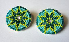 Small Round Star Native American Style Beaded by AlphaMelsBeadwork, $15.00