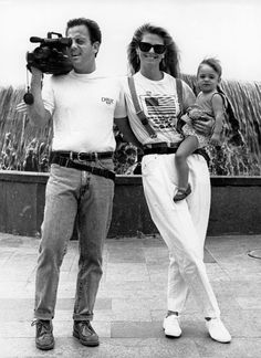 Billy Joel, Christie Brinkley and baby daughter Alexa
