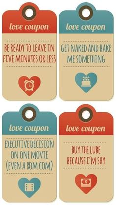 Free printable love coupons he'd actually want to get | Valentine's gifts for him