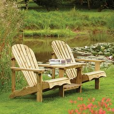 Union Rustic Made of softwood this attractive love seat has been shaped for comfort, sit back and relax whilst enjoying your surroundings. Garden Yard Ideas, Garden Tools, Wooden Garden Furniture, Outdoor Furniture, Cheap Furniture, Wrought Iron Bench, Traditional Benches, Wooden Arbor, Wooden Planters