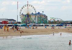 Ocean City Maryland boardwalk beach