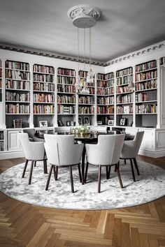 Dining Room Decor ideas for decorating living room dining room combo Home Interior, Interior Design, Modern Interior, Interior Decorating, Home Library Design, Beautiful Dining Rooms, Home Libraries, Home Library Rooms, Dining Room Inspiration