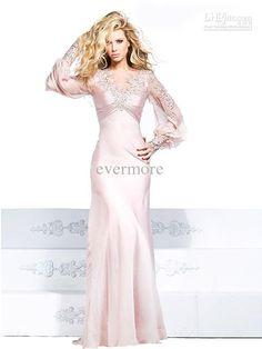 Satin Long Sleeved Gown by Tarik Ediz 92263 Modest Dresses, Formal Dresses, Wedding Dresses, Formal Prom, Long Sleeve Gown, Homecoming Dresses, Beautiful Dresses, Pretty Dresses, Fabulous Dresses