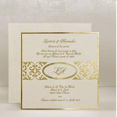 Golden Wedding Invitations UK - Golden Ornate - WeddingSoon