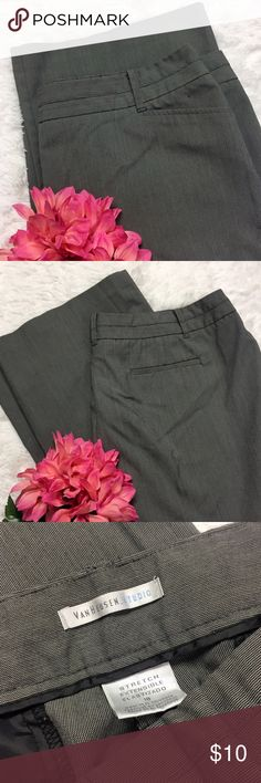 Can Heusen Plus Size Slacks Excellent condition. Color is dark to medium gray. Women's size 18 regular stretch Van Heusen Pants