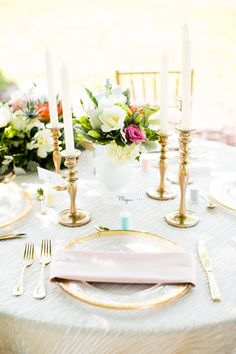 Whimsical spring and summer wedding ideas | Photo by Robyn Van Dyke | Read more - http://www.100layercake.com/blog/?p=76949 #pastel #tablescape #summer #spring  // Glamorous Urban Boho Luxe Art Deco Gold Wedding Ideas and Inspiration