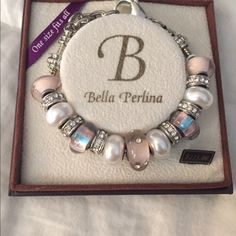 Authentic Bella Perlina bracelet Authentic Bella Perlina sparkly pale pink and pearl bracelet. Bella Perlina Jewelry Bracelets