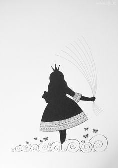 "Picture for guests fingerprints ""Little Princess with Baloons"" (girl christening, baptism, birthday), www.ijk.lt"