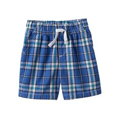 Baby Boy Jumping Beans® Plaid Shorts, Size: 12 Months, Blue (Navy)