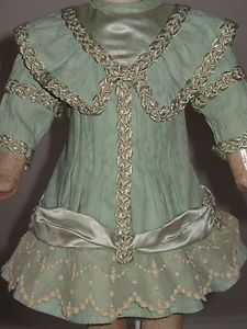 antique doll dress | Antique French Cotton Doll Dress Antiquehat Jumeau Antique Dolls ...  BullDoll InSpiRaTiOn