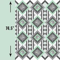 Hawthorne Threads - Zebra Hills - Zebra Hills Quilt Panel in Seaglass and Smoke