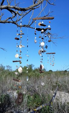 aus dem Meer - 2 move on Mobiles, Wind Chimes, Charmed, Beach, Minis, Outdoor Decor, Home Decor, Gemstones, Glass Beads