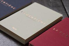 La Centieme Catalogue with copper block foil print finish.
