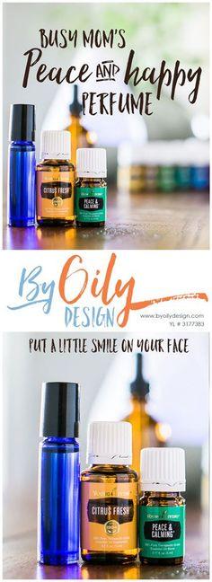 Make your own DIY Perfume. Essential Oil DIY perfume with Citrus Fresh and Peace & Calming essential oils. byoilydesign.com YL member # 3177383