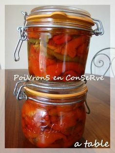 ConServe De PoiVronS à l'HuiLe d'OliVe Mason Jar Meals, Meals In A Jar, Pickles, Marinade Sauce, Romanian Food, Fat Foods, Tapenade, Batch Cooking, Vegan Recipes