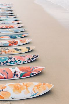 Sports activities Decorative Surfboards Collection by Nusa Indah's collaboration with Lulu DK to the Cove Atlantis Beach Aesthetic, Summer Aesthetic, Deco Surf, Pop Art, E Skate, Custom Surfboards, Photo Deco, Surfboard Art, Surfboard Painting