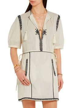 Rebel embroidered cotton mini dress | ISABEL MARANT ÉTOILE | Sale up to 70% off | THE OUTNET