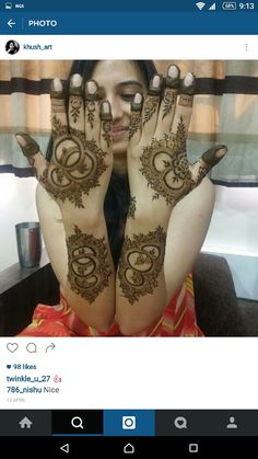 Mehndi design Round Mehndi Design, Arabic Bridal Mehndi Designs, Stylish Mehndi Designs, Mehndi Art Designs, Mehndi Design Pictures, Beautiful Mehndi Design, Mehndi Images, Henna Tattoo Designs, Mehandi Henna
