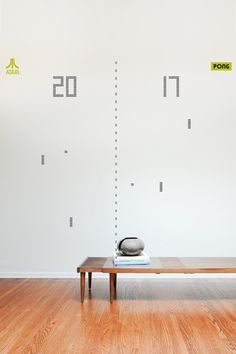 PONG in 8-BIT by ATARI - Wall Decals [ more decals on www.8bitdecals.com ]