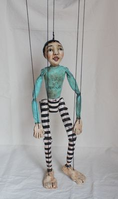 Benny by Jane DesRosier aka Gritty Jane. i like the stripes and worn out paint