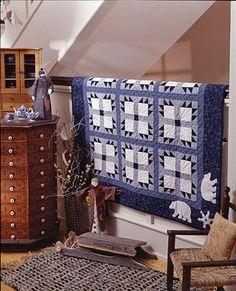 Winter Blues Quilt designer: Jill Reber Quilt name: Polar Bears, American Patchwork & Quilting 2001 Calendar