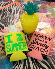 Get beach ready with our summer koozies!  Choose your favorite koozie in any color for just $8!