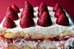 Creamy Strawberry Moscato Torte -- NYT Cooking