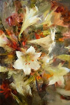 White Lilies by Laura Robb Oil ~ 18 x 12