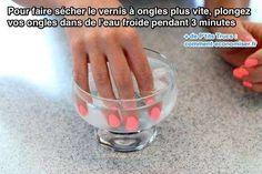 Truc pour faire sécher le vernis à ongles plus rapidement