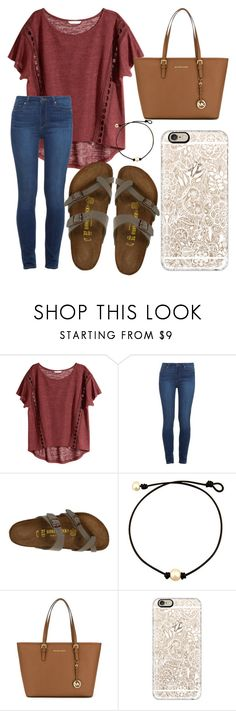 """Go out and make it a great day!!!"" by jadenriley21 ❤ liked on Polyvore featuring H&M, Paige Denim, Birkenstock, MICHAEL Michael Kors and Casetify"