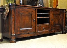 TUSCAN STYLE CABINETS | Mediterranean Bedroom Furniture Media Cabinet