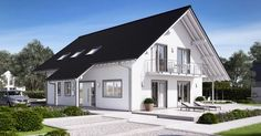 Massivhaus Kern-Haus Familienhaus Maxime Eingangsseite