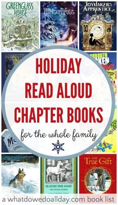 Holiday read aloud chapter books that everyone in the family will enjoy.