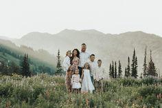 family photos in the mountains