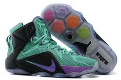 sports shoes f3873 32414 Lebron 12 for6iven Dande Lion Turquoise Teal Violet Future Soldier Nike  Basketball Shoes, Soccer Jerseys