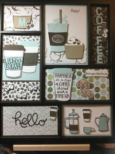 Coffee To Go Becher, Coffee Theme, Coffee Cards, Stamping Up Cards, Creative Cards, Coffee Break, Shadow Box, Trays, Making Ideas