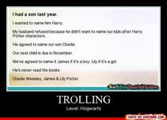 It begun. The Harry Potter generation is birthing children. Prepare yourself for little Ginny's and James and Hermione Jeans