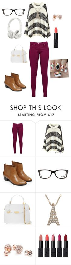 """unique   has met it's  match☺"" by sparkle-i ❤ liked on Polyvore featuring Great Plains, Warehouse, Ray-Ban, Beats by Dr. Dre, Versace, GUESS, NARS Cosmetics and Nail Pop"
