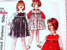 Excited to share the latest addition to my Etsy shop: Toddler Dress Pattern, Jumper Pattern, size 4, Girls Jumper Dress with Blouse Vintage Sewing Pattern http://etsy.me/2CBO13K #supplies #sewing #toddler #toddlerdress #girlsdresspattern #girlsjumperpattern #girlsjumperdress #sewingpatterns #jumperwithblouse