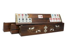 Board Game Cafe, Board Games, How To Play Rummy, Game Night Parties, Tiles Game, Cube Games, New Homeowner Gift, Wooden Rack, Game Room Design