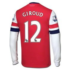 Nike Olivier Giroud Arsenal Long Sleeve Home Jersey 12/14