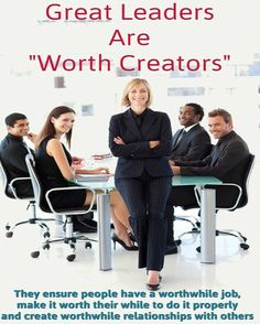 #Leadership creates worth for the #Business by creating worth for the #Employees  #employeeengagement #inspire #success #hr #HumanResources #ceo #hris #workplace #work #happy #worth #job #jobs #satisfaction #Motivation #motivate #culture #boss #manager #management #picoftheday #marketing #entrepreneur #career Employee Engagement, Great Leaders, Job S, Human Resources, Thought Provoking, Workplace, Leadership, The Creator, Entrepreneur