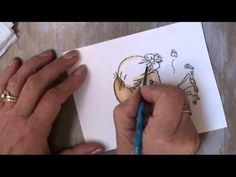 coloring HAIR with distress inks (but any ink will do!)  http://www.youtube.com/watch?v=4VhKvRjdTeQ