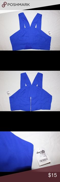 """PRICE DROP--Fashion Royal Blue Crop Top-Sleeveless """"Pop of Blue"""" from Charlotte Russe, Loosing flowing, breathable material, BRAND NEW NEVER WORN IN EXCELLENT CONDITION!!! Pairs nicely with pencil skirts and or jeans. Charlotte Russe Tops Tank Tops"""