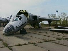 russian aircraft, languishing in its parking area.  Why I wouldn't trust any Russian Aircraft.