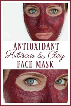 """Antioxidant Hibiscus and Clay Face Mask Did you know that hibiscus is called the """"botox plant""""? Hydrate, exfoliate, revive, and strengthen your skin with this antioxidant hibiscus and clay face mask! Homemade Face Masks, Homemade Skin Care, Diy Skin Care, Homemade Beauty, Diy Beauty, Beauty Hacks, Homemade Moisturizer, Natural Moisturizer, Clean Beauty"""