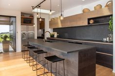 Slate tiles bring forth a rustic, natural primal feel to any space. Perfect for kitchens, bathrooms and flooring. Slate Countertop, Slate Backsplash, Kitchen Countertops, Slate Tiles, Slate Kitchen, Unique Tile, Modern Tiny House, Living Styles, Concrete Patio